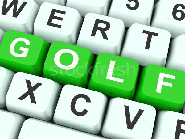 Golf Keys Show Golfing Or Golfer Stock photo © stuartmiles