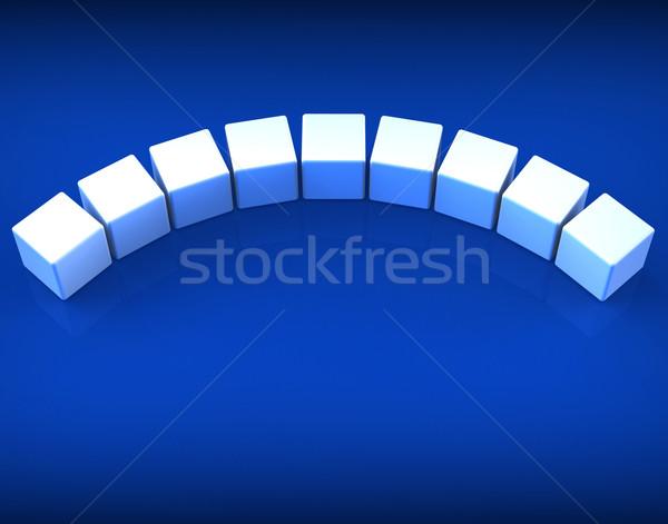 Dziewięć kości pokaż kopia przestrzeń list słowo Zdjęcia stock © stuartmiles