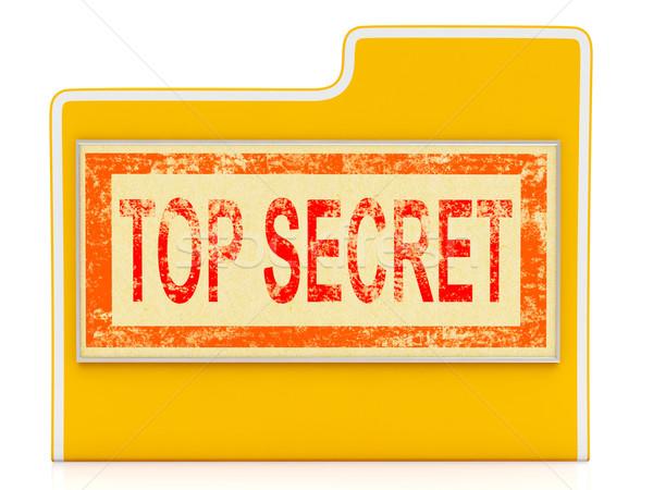 先頭 秘密 ファイル 秘密の フォルダ ファイル ストックフォト © stuartmiles