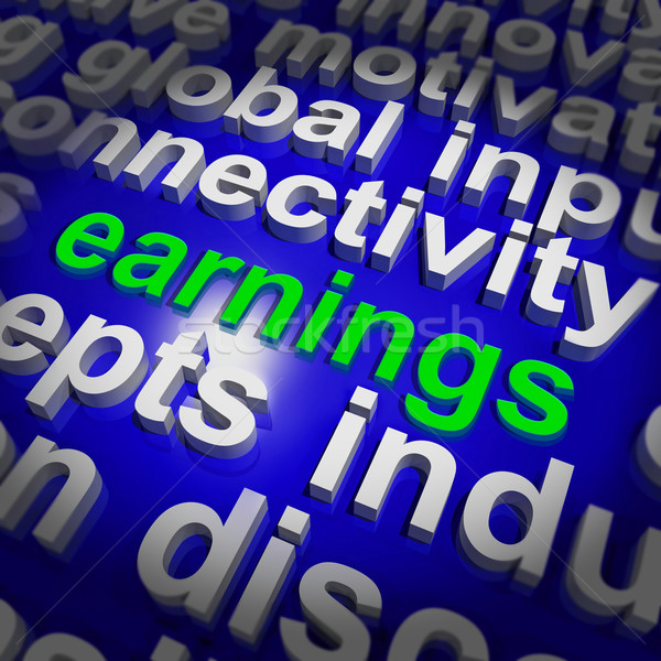 Earnings Shows Wage Prosperity, Career, Revenue And Income Stock photo © stuartmiles