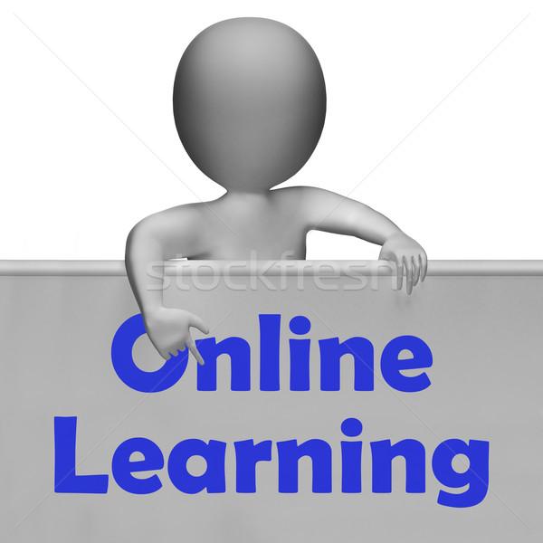 Online tanul felirat online oktatás internet jelentés Stock fotó © stuartmiles