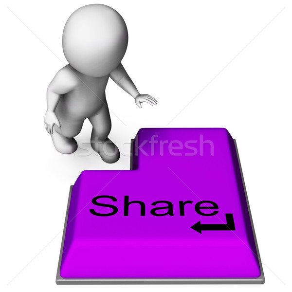 Share Key Means Posting Or Recommending On Web Stock photo © stuartmiles
