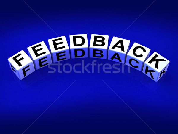Feedback Blocks Means Comment Evaluate and Review Stock photo © stuartmiles