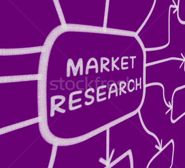 Market Research Diagram Shows Researching Consumer Demand And Pr Stock photo © stuartmiles