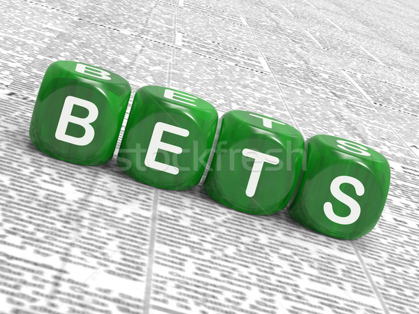 Bets Dice Show Gambling Chance Or Sweep Stake Stock photo © stuartmiles