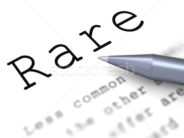 Rare Word Means Uncommon Scarce And Unique Stock photo © stuartmiles