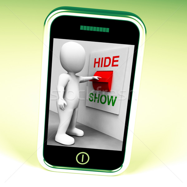 Show Hide Switch Means Conceal or Reveal Stock photo © stuartmiles