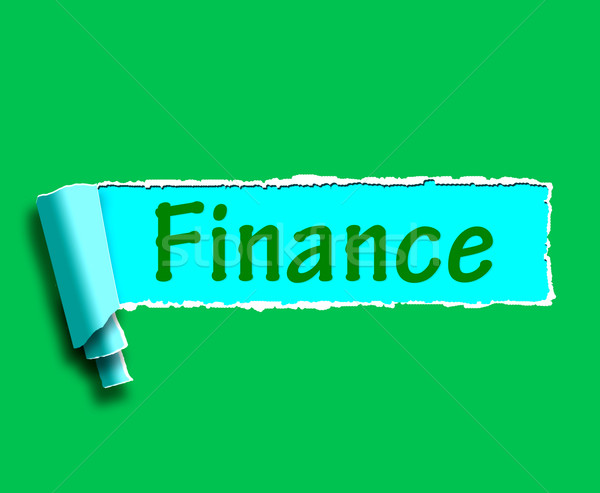Finance Word Shows Online Lending And Financing Stock photo © stuartmiles