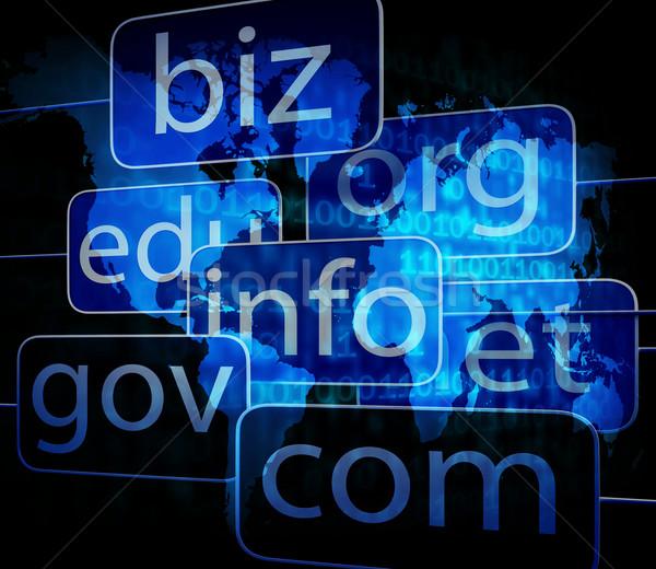 biz com net shows websites internet and seo Stock photo © stuartmiles