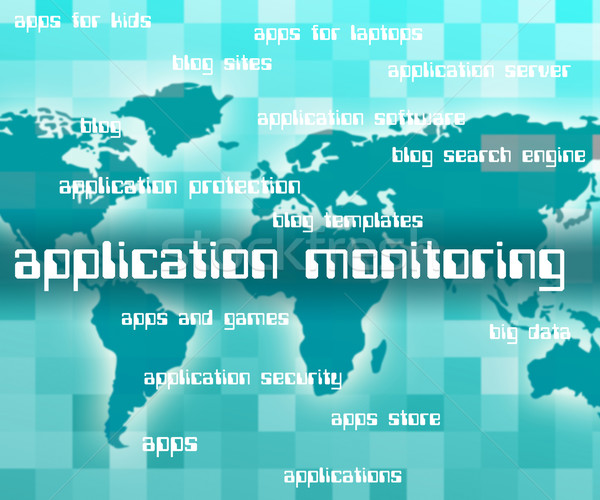 Application Monitoring Shows Observer Words And Apps Stock photo © stuartmiles