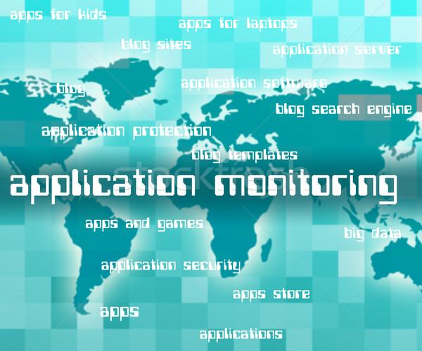 Zdjęcia stock: Aplikacja · słowa · aplikacje · inwigilacja · oprogramowania