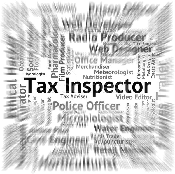 Tax Inspector Indicates Levy Auditor And Hire Stock photo © stuartmiles