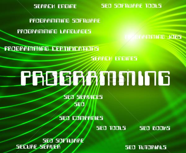 Programmazione parola software sviluppo applicazione Foto d'archivio © stuartmiles