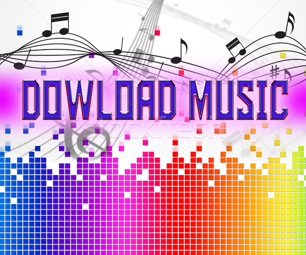 Download Music Means Sound Tracks And Data Stock photo © stuartmiles