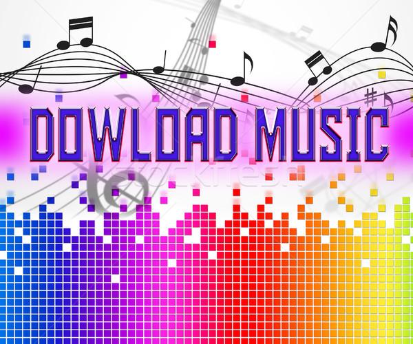Сток-фото: скачать · музыку · звук · данные · интернет · веб