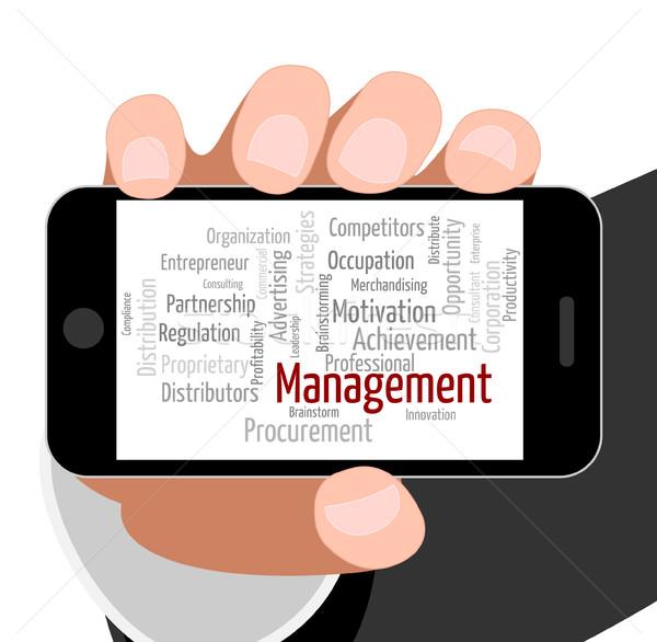 Management Word Represents Directorate Directors And Administrat Stock photo © stuartmiles