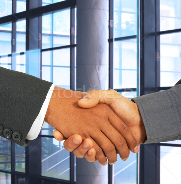 Shaking Hands To Seal An Agreement Stock photo © stuartmiles