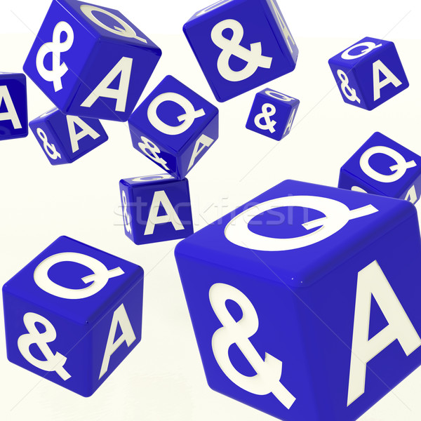 Question and Answer Dice As Symbol For Information Stock photo © stuartmiles