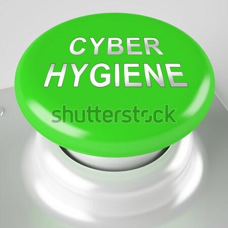Gomb 100 természetes organikus környezeti zöld Stock fotó © stuartmiles