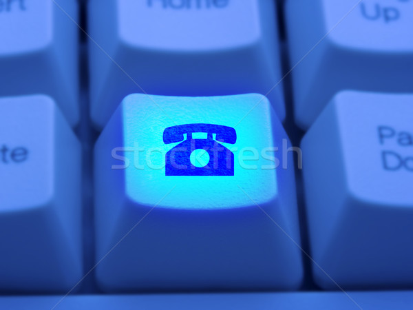 Stock photo: Making Internet Telephone Call