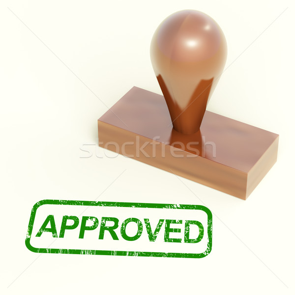 Approved Rubber Stamp Shows Quality Excellent Products Stock photo © stuartmiles
