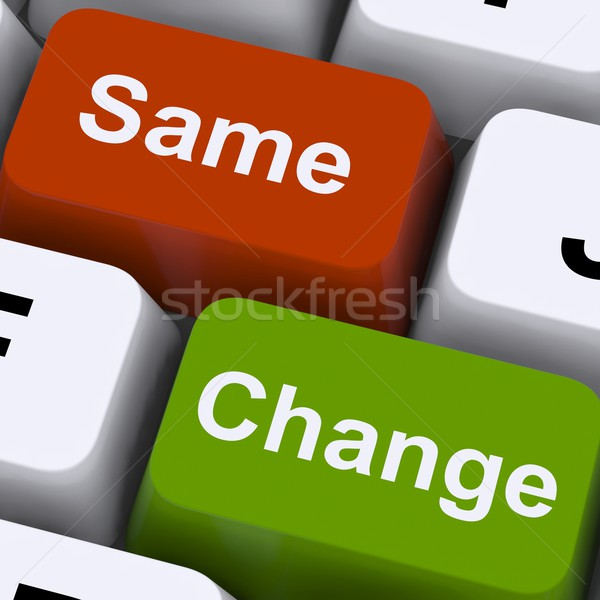 Change Same Keys Show Decision And Improvement Stock photo © stuartmiles