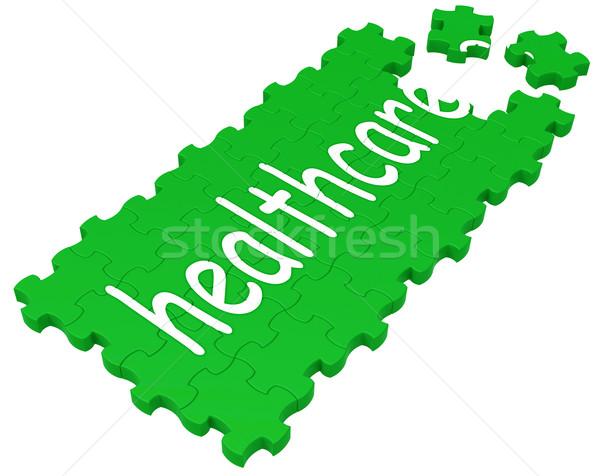 Health Care Puzzle Shows Medical Care Stock photo © stuartmiles