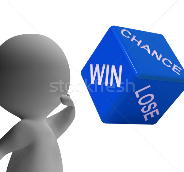Chance Win Lose Dice Shows Gambling And Risk Stock photo © stuartmiles