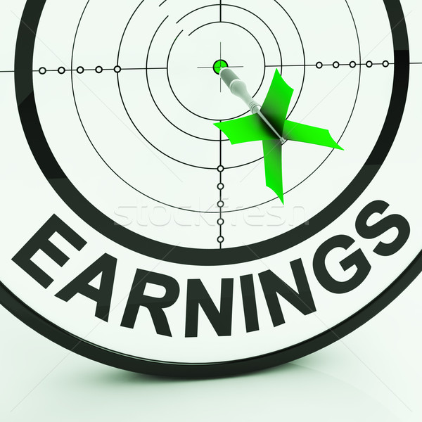 Earnings Shows Money From Employment Profit Income Stock photo © stuartmiles