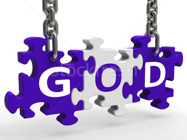 God On Puzzle Shows Prayers Gods Or Religion Stock photo © stuartmiles