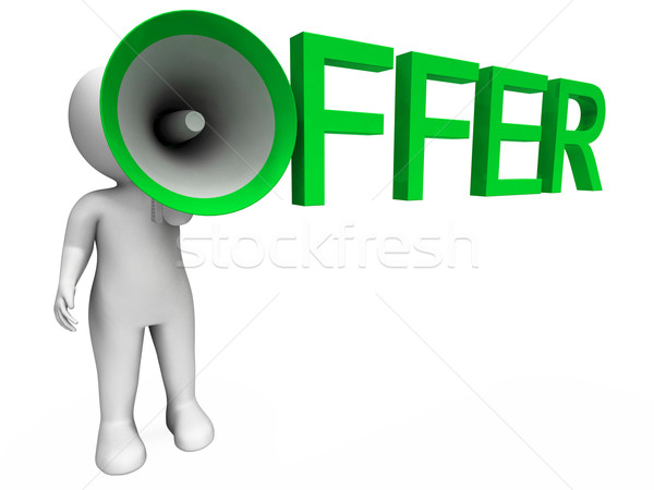 Offer Character Shows Sale Offers And Offering Stock photo © stuartmiles