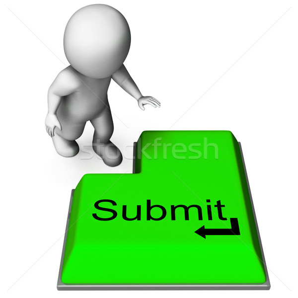 Submit Key Shows Submitting Or Applying On Internet Stock photo © stuartmiles