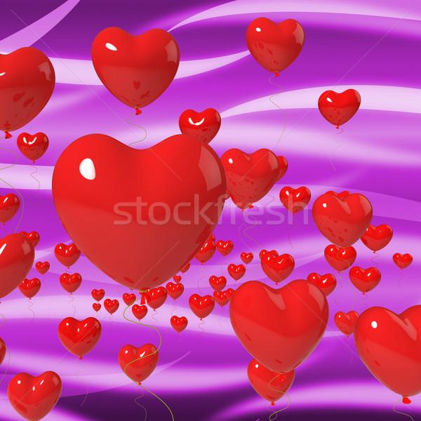 Corazón globos apasionado matrimonio significado hermosa Foto stock © stuartmiles