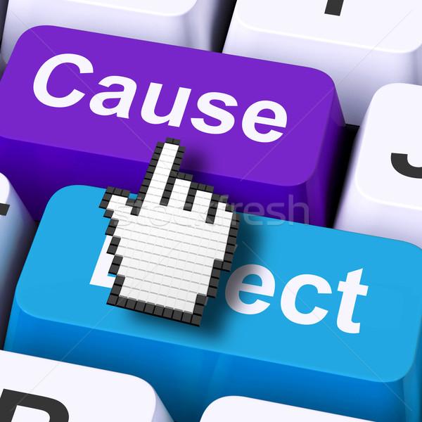 Veroorzaken effect computer gevolg actie betekenis Stockfoto © stuartmiles