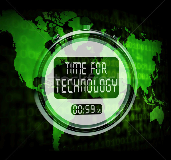 Technology Watch Touch Screen Shows Innovation Improvement Or Hi Stock photo © stuartmiles