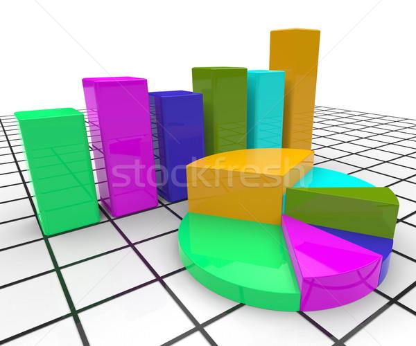 円グラフ レポート ビジネスグラフ 文書 統計値 ストックフォト © stuartmiles