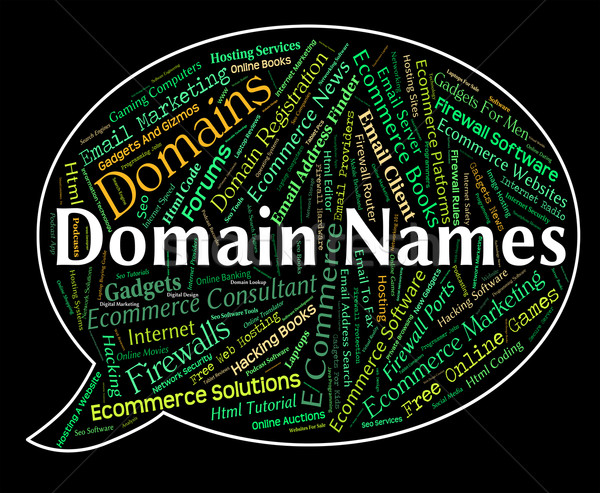Domain Names Represents Tag Title And Text Stock photo © stuartmiles