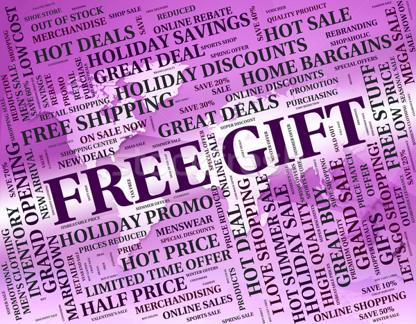 Free Gift Indicates With Our Compliments And Celebrate Stock photo © stuartmiles