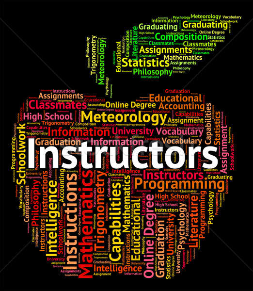 Instructors Word Indicates Give Lessons And Coaching Stock photo © stuartmiles