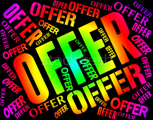 Offer Word Means Retail Sale And Clearance Stock photo © stuartmiles