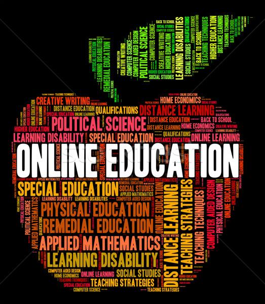 çevrimiçi eğitim world wide web kolej web sitesi Stok fotoğraf © stuartmiles