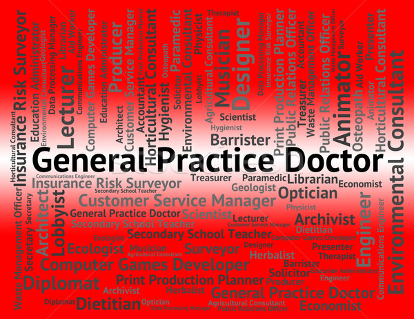 Geral prática médico médico pessoa carreira Foto stock © stuartmiles