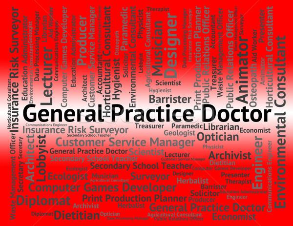Generale pratica medico medici persona carriera Foto d'archivio © stuartmiles