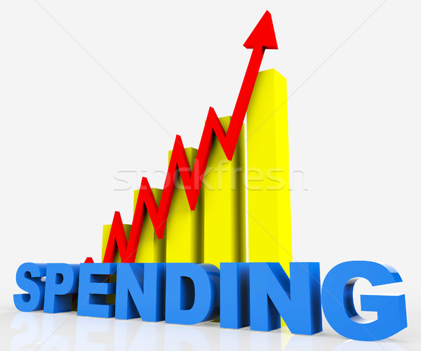 Increase Spending Indicates Progress Report And Diagram Stock photo © stuartmiles