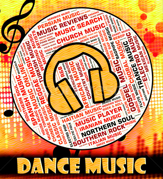 Dance Music Indicates Sound Track And Acoustic Stock photo © stuartmiles