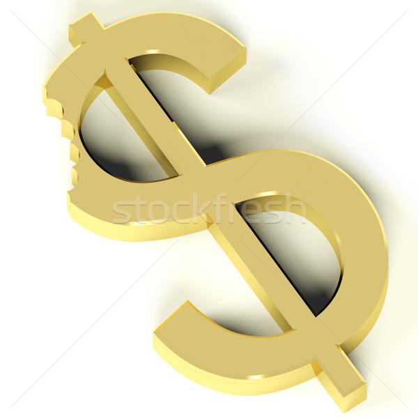 Dollar bijten tonen economisch crisis drop Stockfoto © stuartmiles