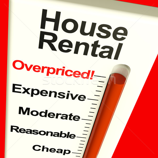 House Rental Overpriced Monitor Showing Expensive Housing Costs Stock photo © stuartmiles