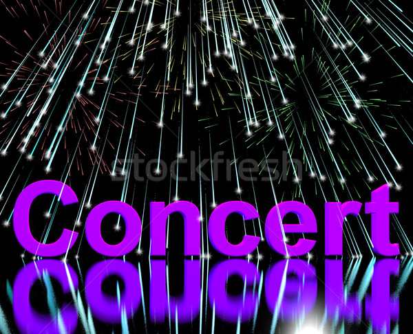 Concert Word On Stage With Firework Display Stock photo © stuartmiles