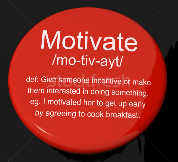 Motivare definizione pulsante positivo incoraggiamento Foto d'archivio © stuartmiles