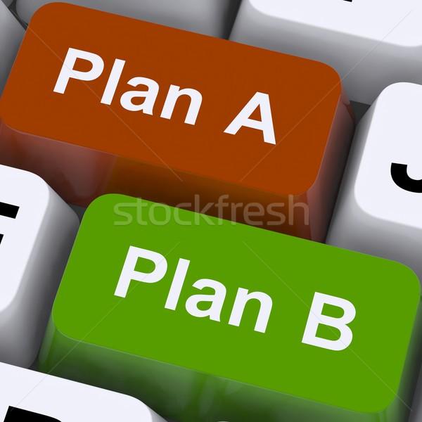 Photo stock: Plan · b · choix · stratégie · changement · affaires